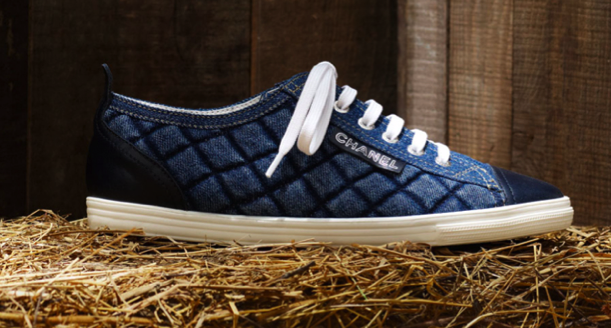 Catch of the Day: Chanel quilted denim sneakers