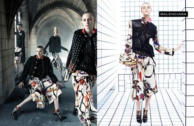 Dutch model Milou van Groesen for Balenciaga