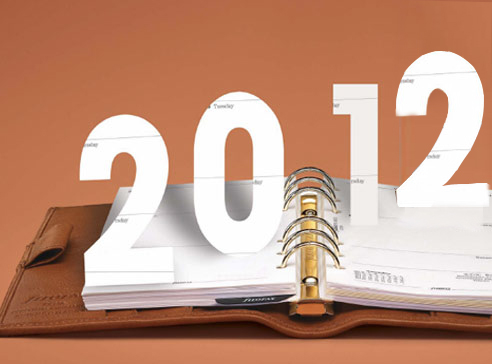 What's on the calendar for 2012?