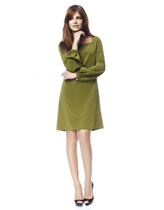 Catch of the day: Olive green dress