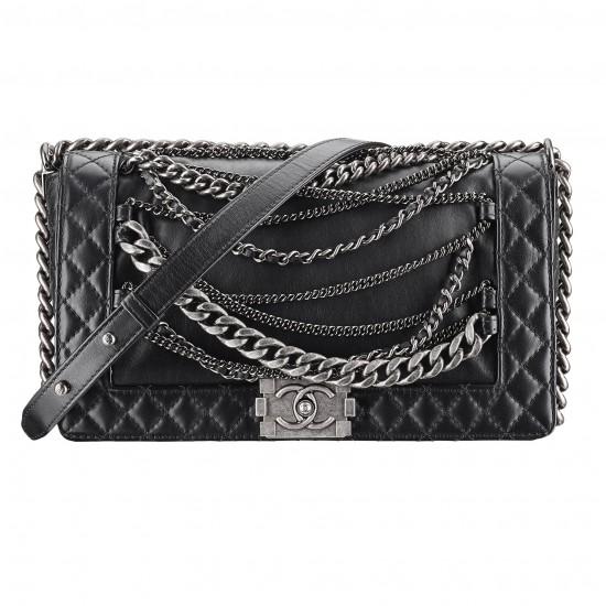 Chanel Bag Black 1 Black Leather Boy Chanel