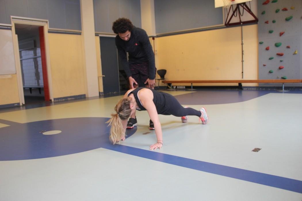 oefening met Hiitfit